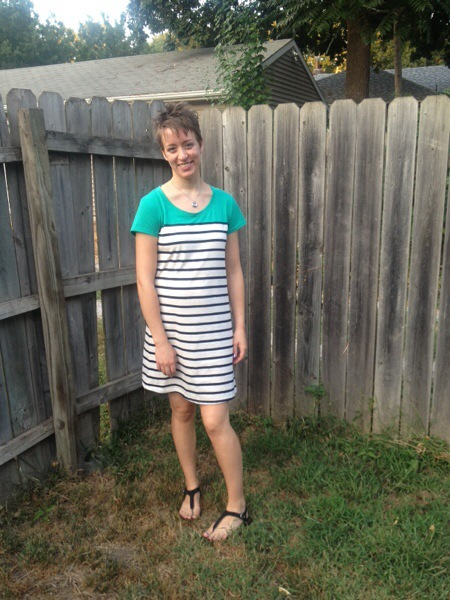 maternity. ootd, striped dress